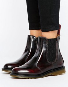 Read more about Dr martens kensington flora burgundy chelsea boots - cherry red