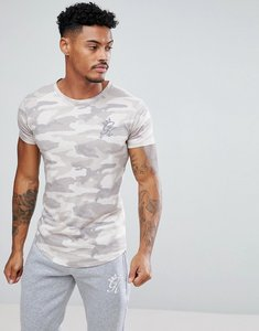 Read more about Gym king muscle t-shirt in stone camo - stone
