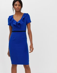 Read more about Paper dolls capped sleeve pencil dress with frill detail