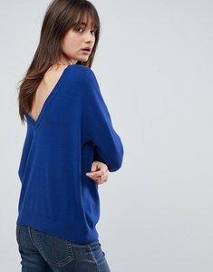 Read more about Asos jumper with v back detail - cobalt