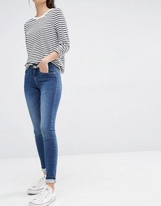 Read more about Only royal reg rise skinny jeans - medium blue