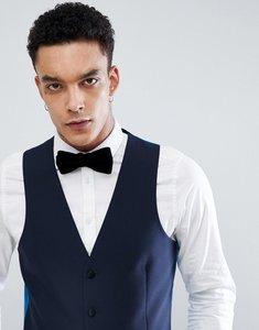 Read more about Harry brown plain navy skinny tuxedo waistcoat - navy