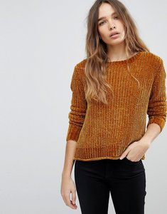 Read more about Jdy cropped knitted jumper - brown