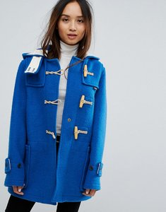 Read more about Gloverall mid monty wool blend duffle coat - blue