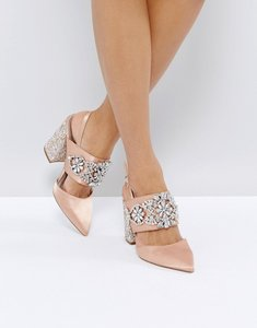 Read more about Asos perfect combo bridal embellished heels - nude