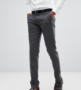 Read more about Farah tall skinny wedding suit trousers in fleck - charcoal