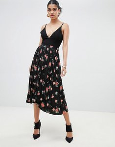 Read more about Fashion union pleated midi skirt in vintage floral - vintage floral