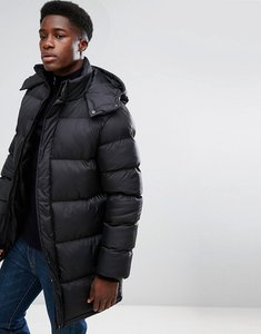 Read more about French connection padded hooded jacket - black