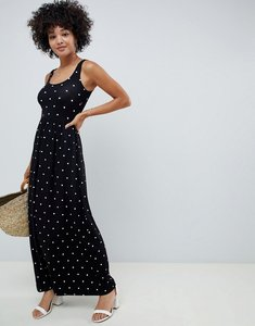 Read more about Asos design spot print maxi skater dress - spot print
