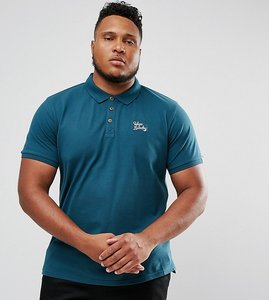 Read more about Tokyo laundry plus slim fit stretch polo - green