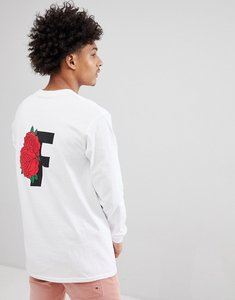 Read more about Fairplay long sleeve t-shirt with rose back print in white - white