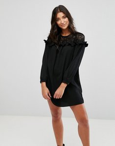 Read more about Brave soul lace smock dress - black