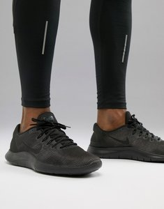 547ca3f75e11 Read more about Nike running flex 2018 trainers in triple black aa7397-002  - black