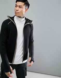 Read more about 66 north vik hooded lightweight mid layer jacket in black - 900