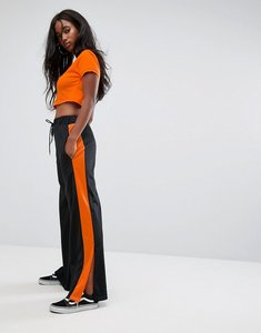 Read more about The ragged priest joggers with splits and side stripe - black