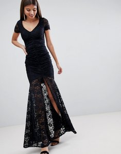 Read more about City goddess lace maxi dress - black