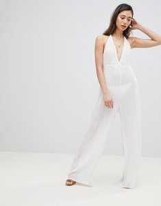 Read more about Influence beach jumpsuit in halter neck - white