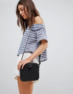 Read more about Glamorous stripe off shoulder top - blue white stripe
