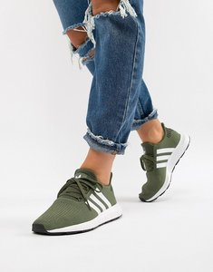 Read more about Adidas originals swift run trainers in khaki - green