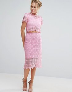 Read more about Little white lies crochet tom skirt - pink