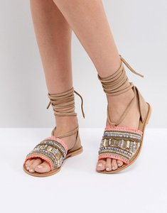 Read more about Asos javinda suede embellished summer shoes - multi
