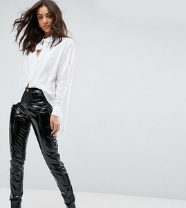 Read more about Glamorous tall skinny trousers in high shine vinyl - black