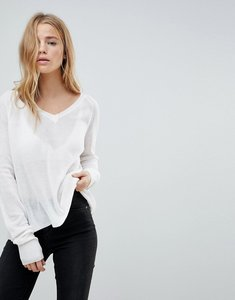 Read more about John jenn adelaide full needle raglan v neck jumper - 100 ivory