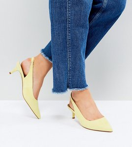 Read more about Asos spirit wide fit slingback kitten heels - yellow
