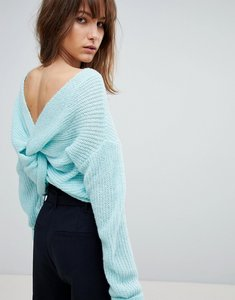Read more about Asos jumper with twist back - blue