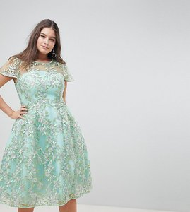 Read more about Asos edition curve sequin midi dress - green