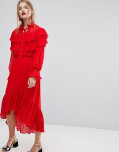 Read more about Y a s dress with ruffle detail - red