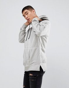 Read more about New look hoodie in acid wash light grey - light grey