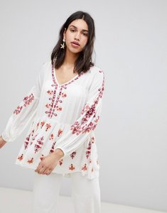 Read more about Free people embroidered tunic top - ivory