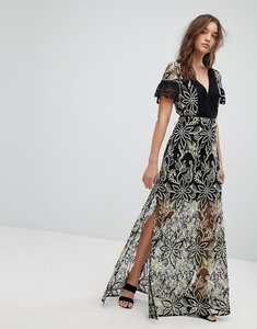 Read more about French connection joyce lace maxi dress - multi