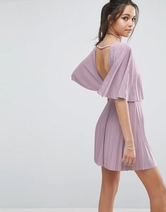 Read more about Asos pleated open back mini dress - lilac