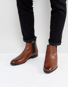 Read more about Hugo dressapp burnished calf leather chelsea boots in tan - medium brown 214