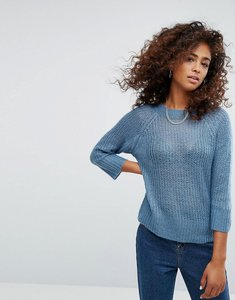 Read more about Noisy may knitted jumper - blue