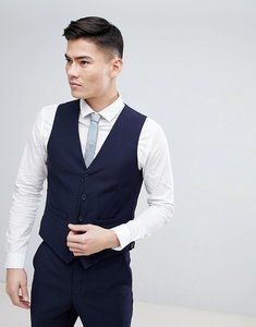 Read more about French connection birdseye weave slim fit waistcoat - navy