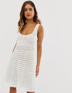 Read more about Asos design premium hand crochet dress with square neck