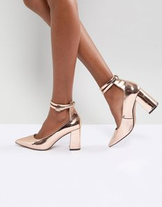 Read more about Asos poppet high heels - rose gold