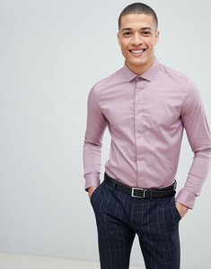 Read more about Burton menswear skinny fit shirt in dusty pink - pink