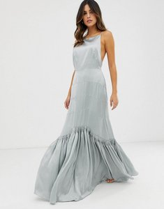 Read more about Asos edition panelled maxi dress with pleat hem detail