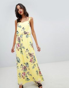 Read more about Vila floaty floral maxi dress - yellow iris