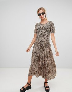 Read more about Glamorous leopard mesh smock dress - leopard mesh
