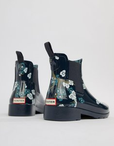 Read more about Hunter chelsea wellington boot - blossom