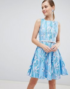 Read more about Closet london skater dress with belt - multi