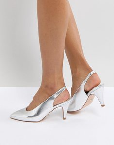Read more about Faith clarissa high vamp heeled shoes - silver