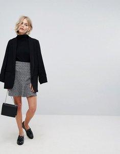 Read more about Esprit frill detail a line skirt - black