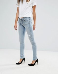Read more about Levis 711 skinny jean with rips - lets run away blue