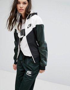 Read more about Nike og windrunner hooded jacket - outdoor green black